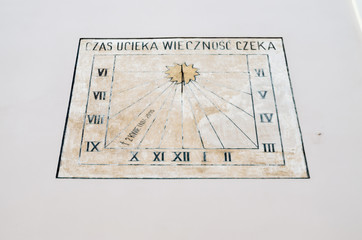 Sundial on White Background