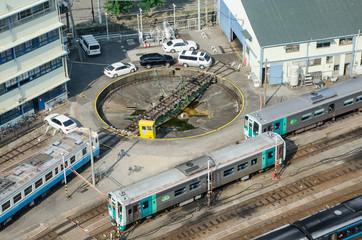 ターミナル駅の転車台