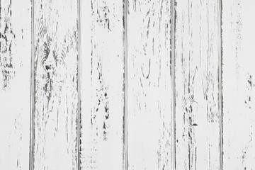 Abstract rustic surface white wood table texture background. Close up of rustic wooden wall