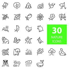 NATURE ICON SET doodle