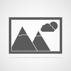 Photo or picture icon. Vector illustration.