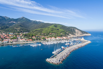 Port of Marciana Marina. Elba Island in Italy