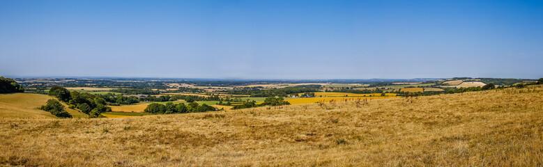 Panorama landscap with farmland in Kent Engeland UK Fototapete