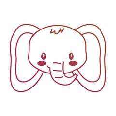 cute face elephant cartoon animal