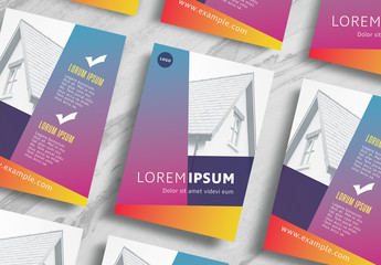 Gradient Real Estate Flyer Layout