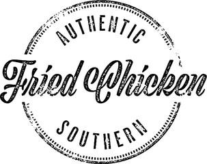 Southern Fried Chicken Restaurant Menu Sign