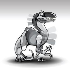 T-rex Dinosaur art tattoo concept.