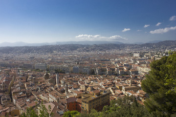 Overview of Nice from the top of the castle hill