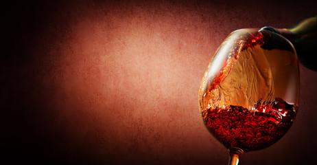 Wine on textured background