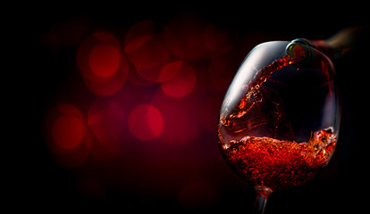 Wine on dark red