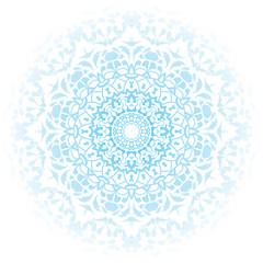 Floral round decorative symbol. Vintage decorative elements. Oriental pattern, vector illustration. Coloring book page. Circular pattern