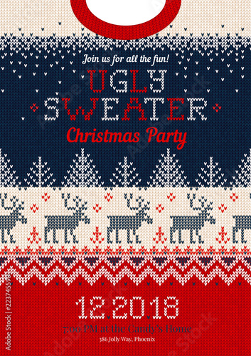 b853061723294 Ugly sweater Christmas party invite
