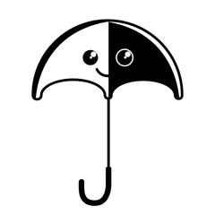 Isolated happy umbrella icon. Vector illustration design