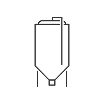 Brewery tank outline icon