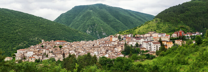 Scanno, a village in the National Park of Abruzzo (Italy)