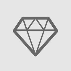 Diamond icon vector. Jewel symbol. Simple isolated illustration.