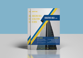 Business Flyer Layout with Diagonal Photo Element