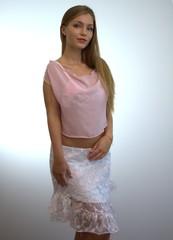 Fashion Model mit rosa Top