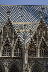 Roof detail of Saint Stephan Cathedral, Vienna, Austria.