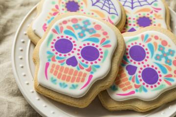 Homemade Mexican Sugar Skull Cookies
