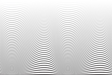 Wavy lines texture. Abstract background.