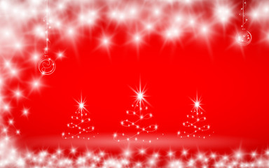 Christmas background in red color