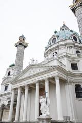 Karlskirche (St. Charles Church) at Karlsplatz, Vienna. Austria
