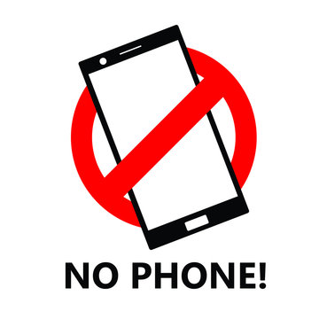 No phone usage or don't use cellular phone sign icon