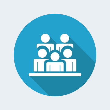 Vector illustration of single isolated people group icon