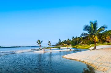 Bilene Beach Lagoon in Paraia Do Bilene , Mozambique