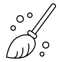 Broom thin line icon. Besom vector illustration isolated on white. Household outline style design, designed for web and app. Eps 10.