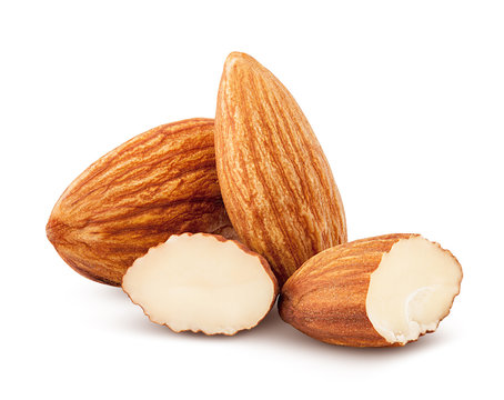 6312649 almond isolated on white background, clipping path, full depth of field