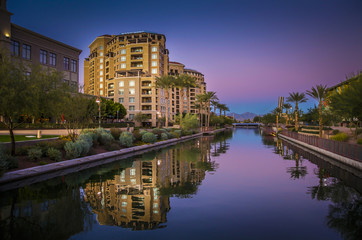Photo sur Plexiglas Lieux connus d Amérique Scottsdale Waterfront, Arizona,USA.