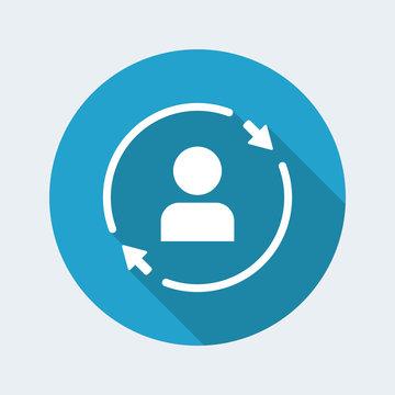 Personal account updates - Flat minimal icon
