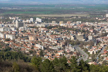 Panoramic view of city of Shumen, Bulgaria