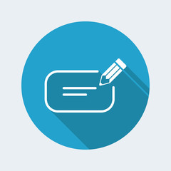 Message box text icon