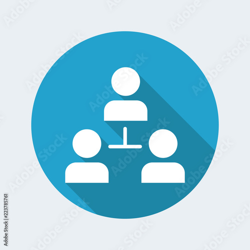 Team network - Minimal vector icon