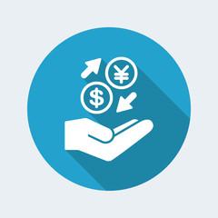 Money exchange services - Dollar/Yen - Minimal icon