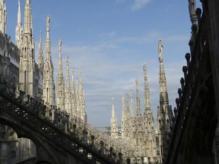 Dachschräge am Dom zu Mailand