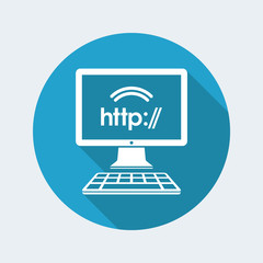 Http web connection - Vector flat icon