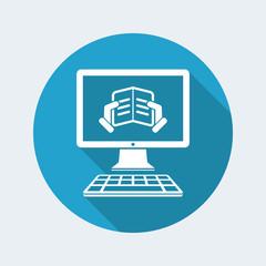 Online e-book - Vector flat icon