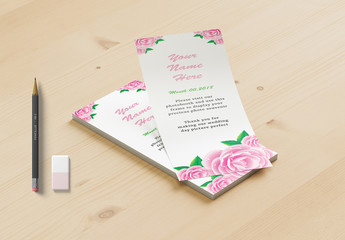 Photo Booth Place Card Layout With Pink Fl Elements