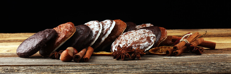 Typical German Gingerbreads such as Lebkuchen and Aachener Printen