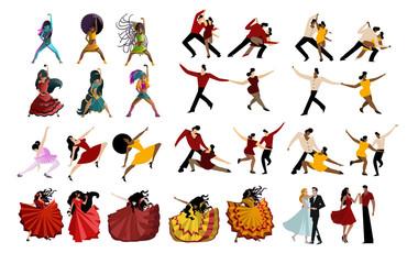 salsa mambo tango rumba dancers collection