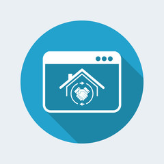 House mutual agreement - Real estate vector icon for computer website or application