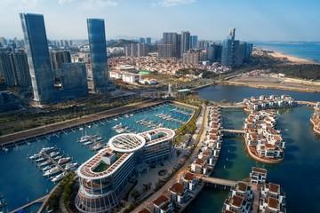 Xiamen city aerial view