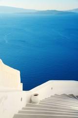 Foto op Textielframe Santorini Santorini island street view