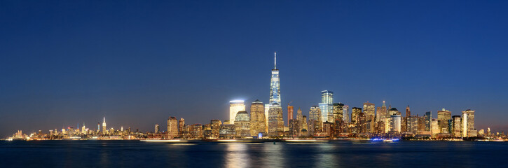 Fototapete - New York City skyline at night