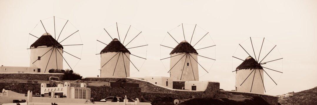 Mykonos windmill panorama