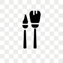 Brush vector icon isolated on transparent background, Brush logo design